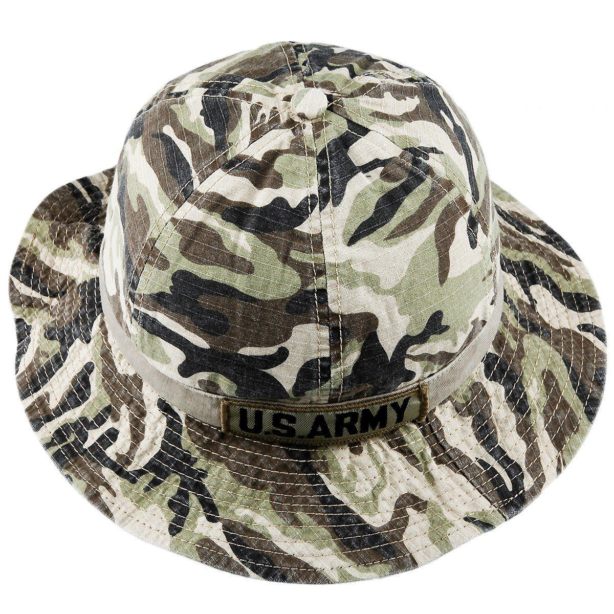 3f2ea1dd55e squaregarden Bucket Hats for Men Military Camouflage Tactical Rip-stop Boonie  Hat Cap. Squaregarden