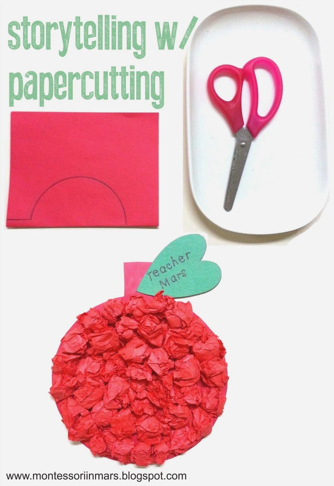 Storytelling With Papercutting Apple