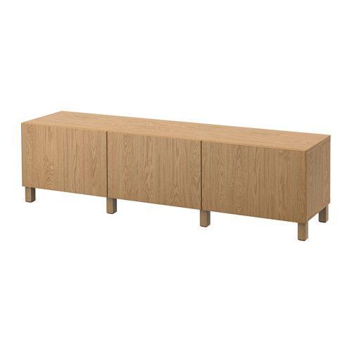 IKEA BESTÅ Storage combination with drawers Lappviken oak effect 180x40x48 cm…