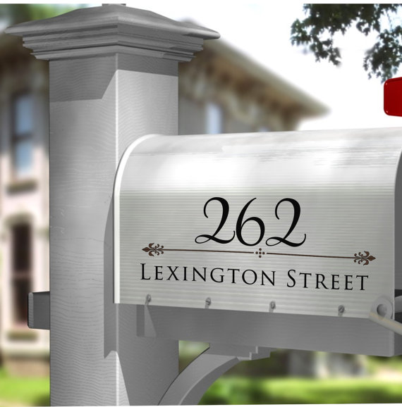 mailbox decal - address mailbox decal