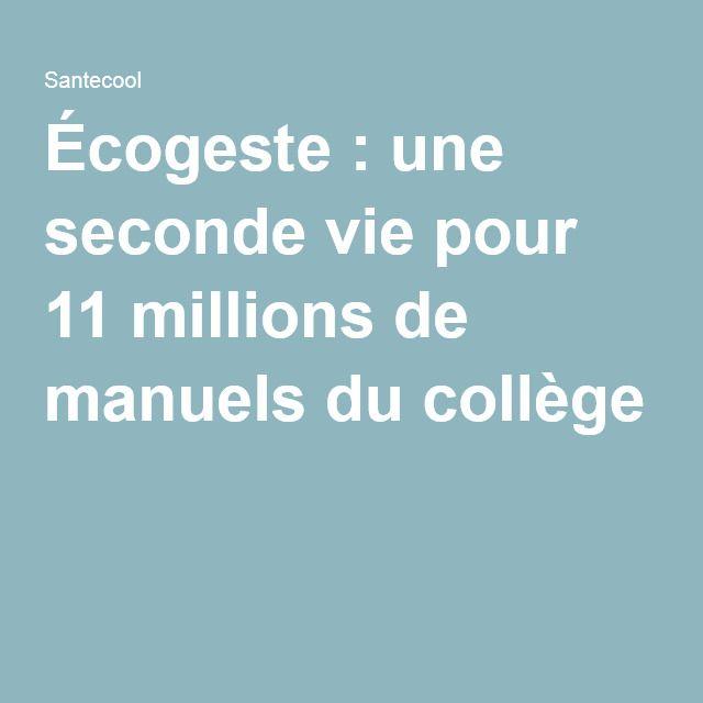 Écogeste : une seconde vie pour 11 millions de manuels du collège