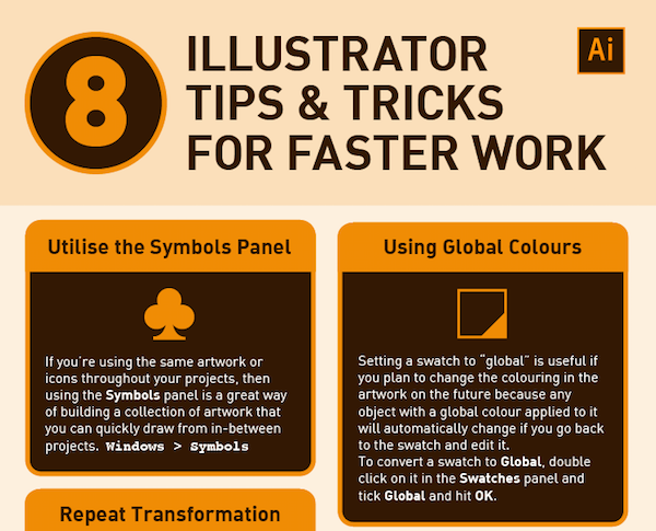 infographic 8 adobe illustrator tips for greater efficiency