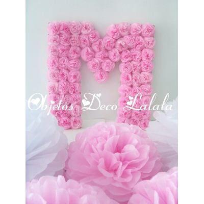 letras y numeros flores cumple bautismo aos casamientos a arte y artesanas