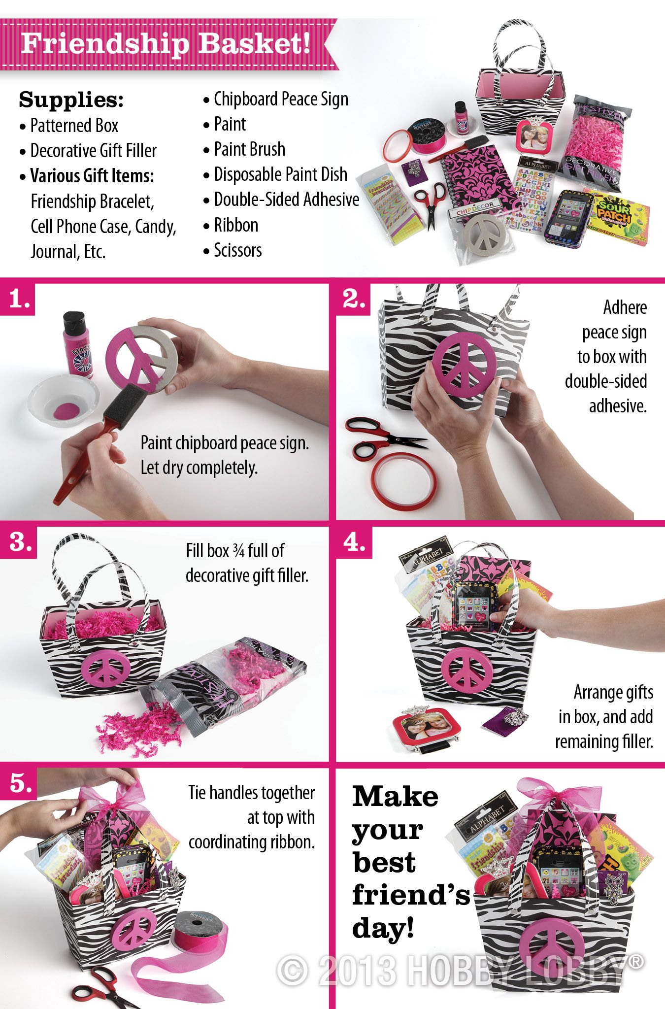 Make A Diy Friendship Basket For An Awesome Gift This Valentine S