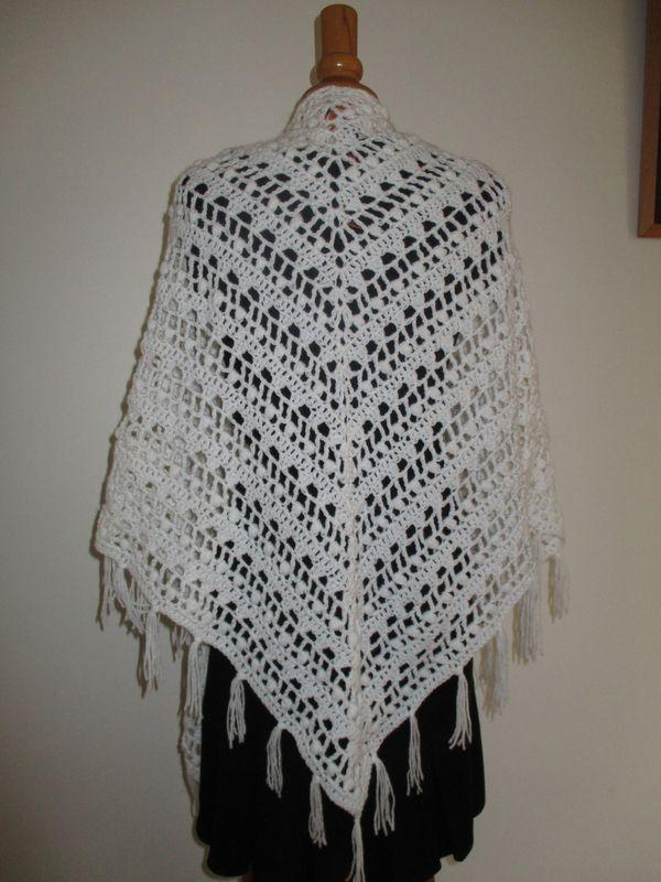 Crochet: châle blanc