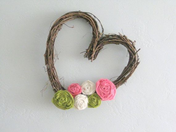 Heart shaped grapevine wreath by TheWalnutStreetHouse on Etsy, $29.00    I'd order in round
