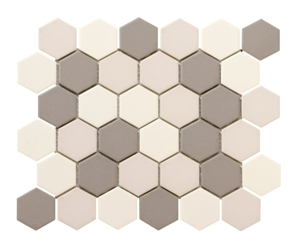 Emser Tile W71zone1113mhx2 Zone 12 3 4 X 11 3 16 Hexagon Mosaic Multi Surfac Light Blend Tile Porcelain Mosaic Tile Luxury Vinyl Flooring Hexagonal Mosaic