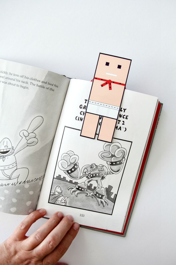 A Captain Underpants Printable Bookmark Tonya Staab Captain Underpants Bookmarks Printable Free Printable Bookmarks