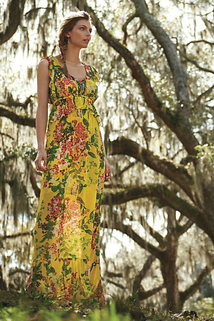 c6983ebc80ef Sun grove maxi dress Tracy Reese anthropologie