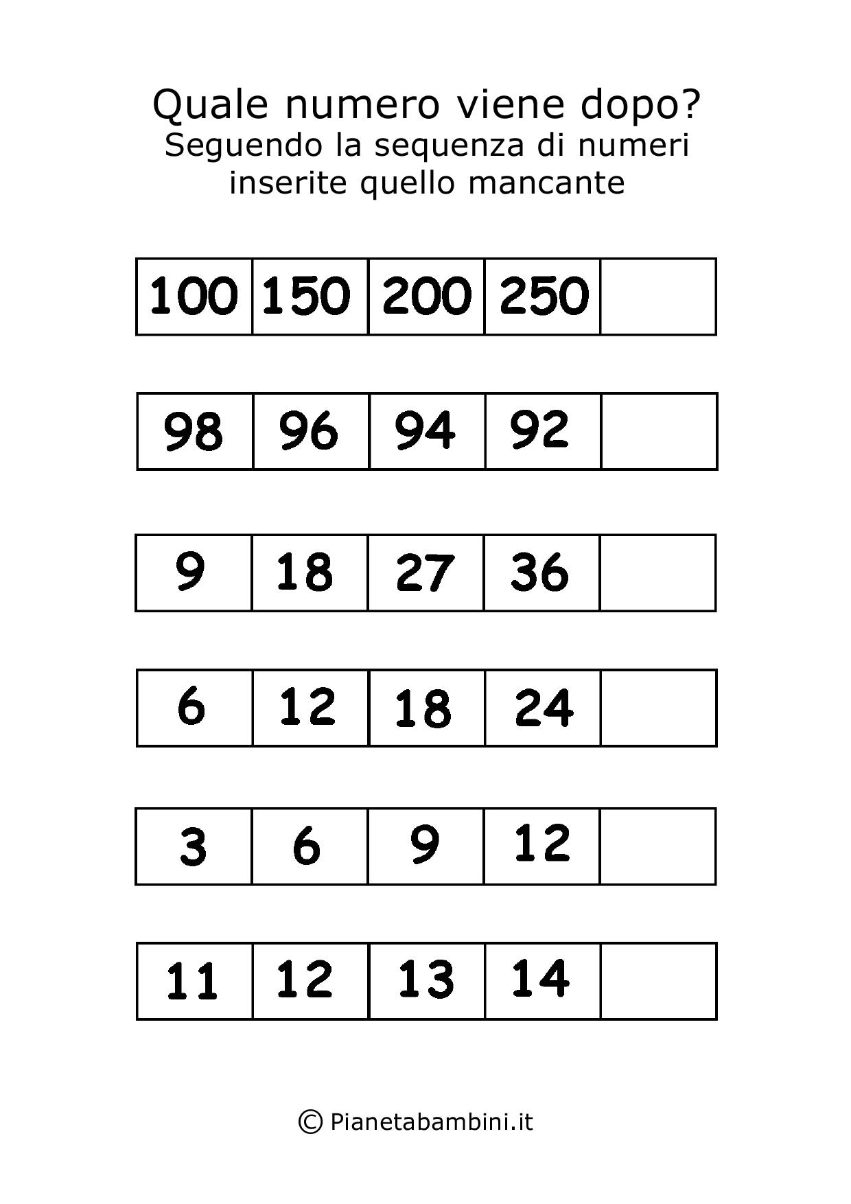 Giochi Di Matematica Per Bambini Di 6 7 Anni Da Stampare Logica