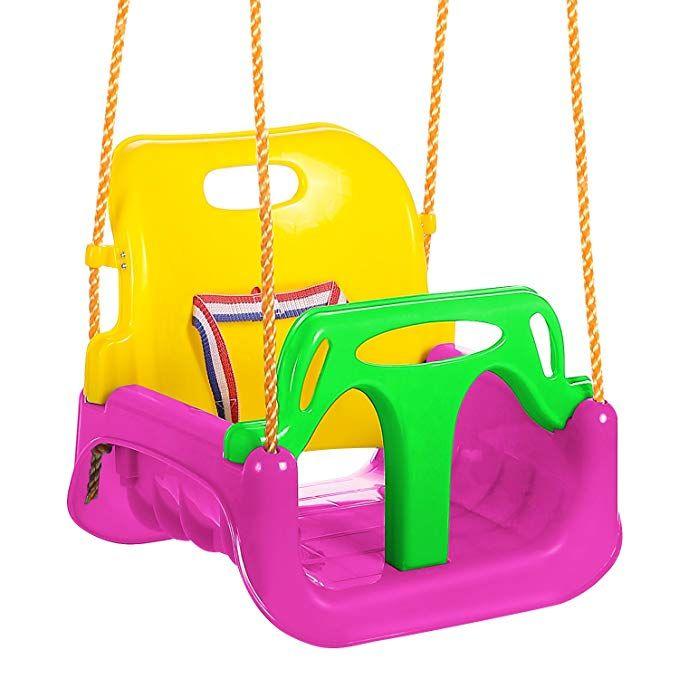 05c418a07 Befied Asiento columpio infantil silla para columpio asiento de plástico  para bebés niños más de 2 años Columpio jardín Cuerda de 2M (Verde) |  columpio ...