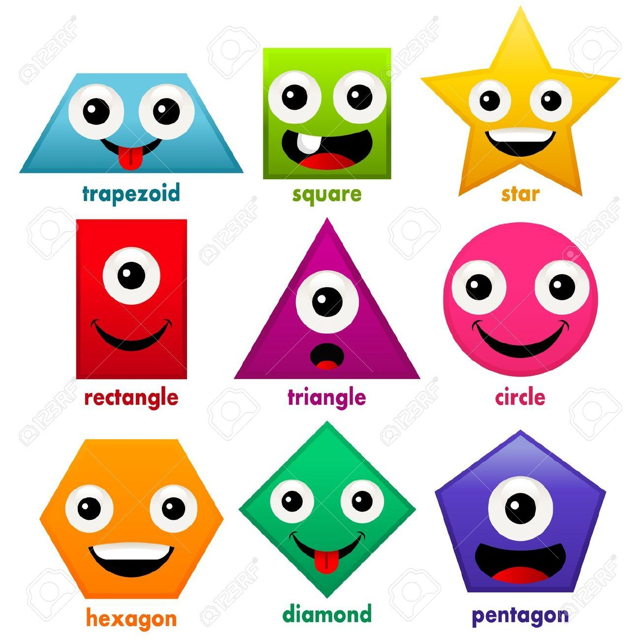 11008199 Educational Fun Basic Shapes Stock Vector Shapes