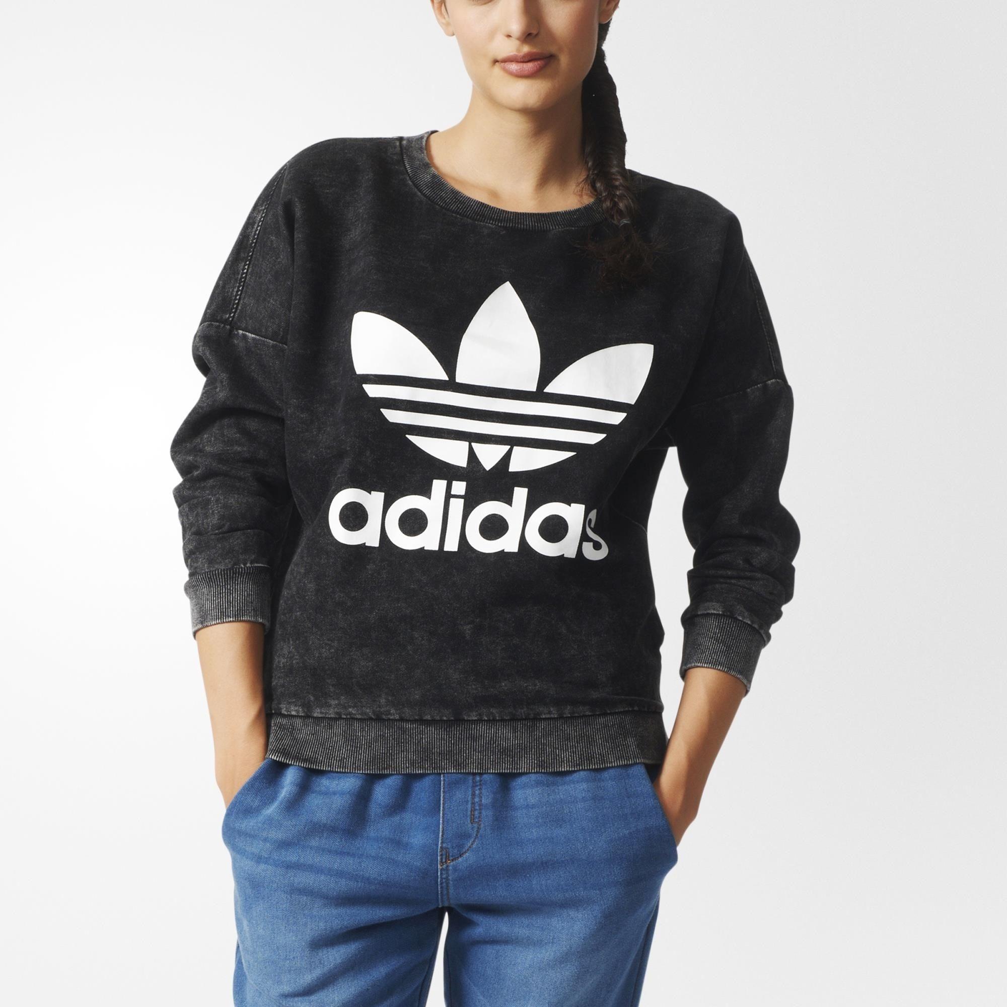 Adidas Denim Sweatshirt Multicolor Adidas Us Denim Sweatshirt Hoodies Womens Sweatshirts [ 2000 x 2000 Pixel ]