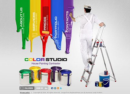House Painting website template | I like it! | Pinterest | Best ...