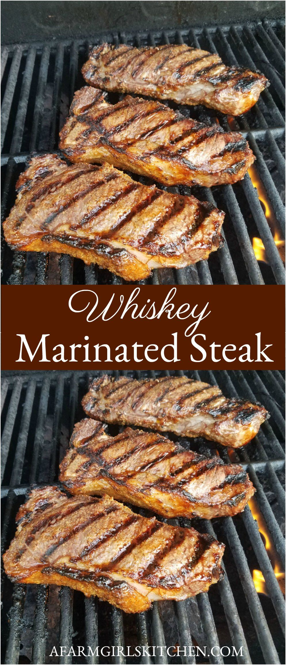 Whiskey Marinated Steak