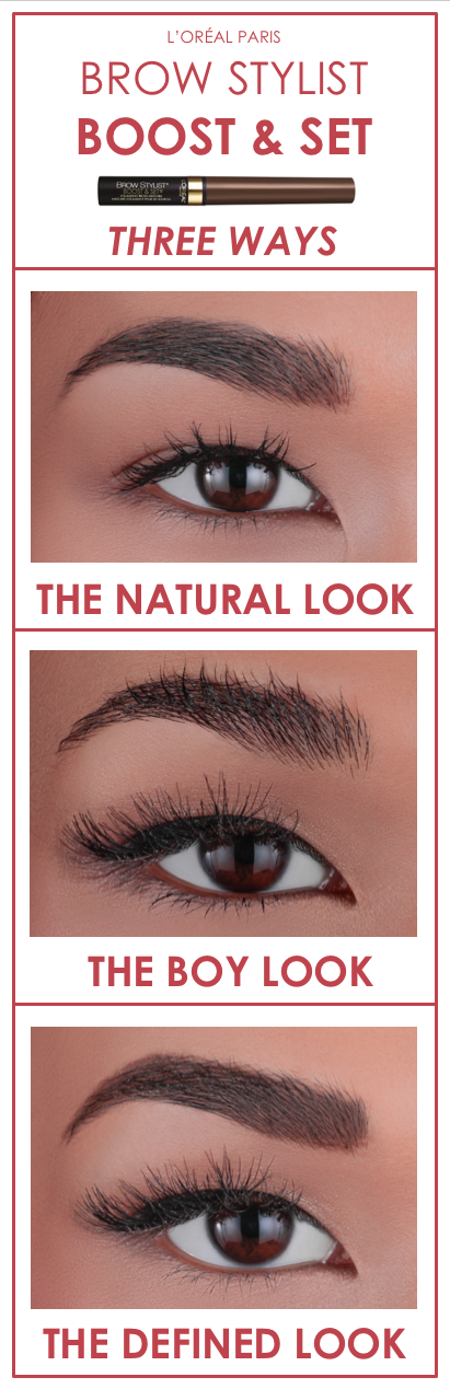 4be60c0b1d3 How to use new L'Oreal Brow Stylist Boost & Set brow gel-mousse 3 different  ways. Get the natural look, the tousled