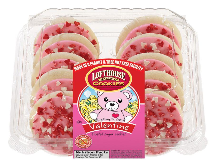 Valentine Pastel Pink Frosted Sugar Cookies Lofthouse Cookies Nut Free Cookies Sugar Cookie Frosting Favorite Cookies