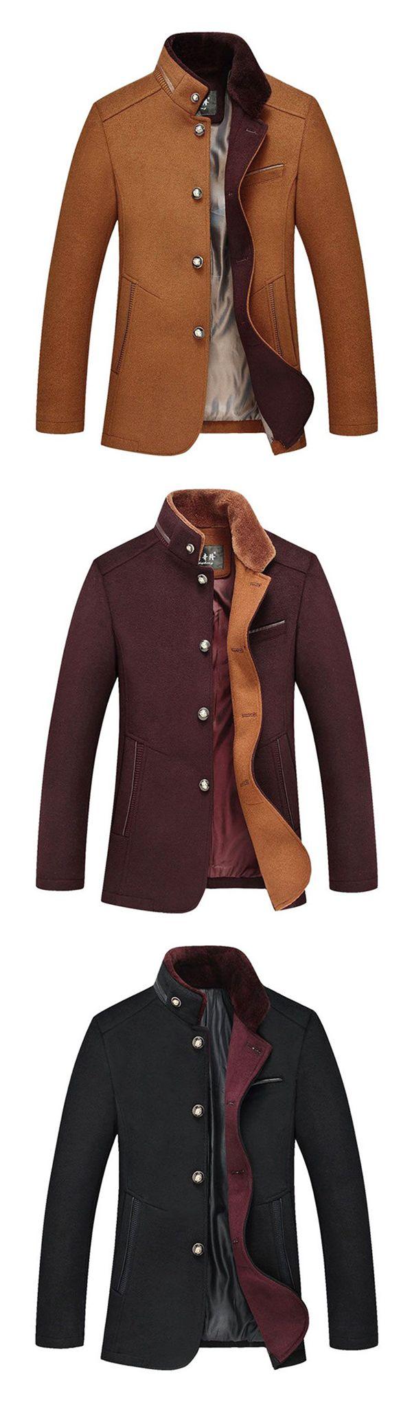 Fashion&Business Mid Long Woolen Trench Coats fa… https