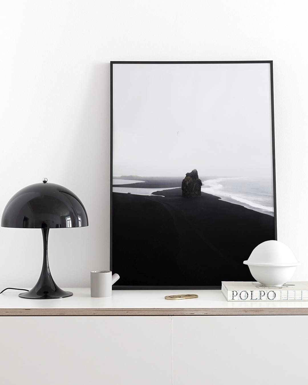 'Black Beach' print in out living room #cocolapine #louispoulsen