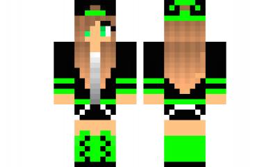 Minecraft Skin Tomboy Green Minecraft Skins Minecraft Skins Cool Minecraft Skin