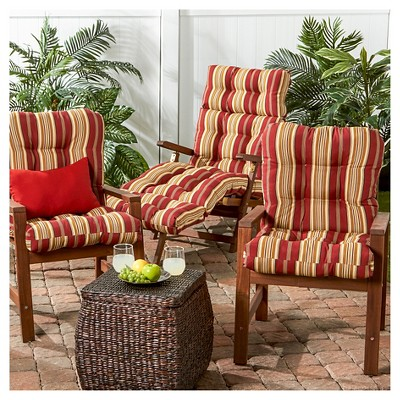 Roma Stripe Outdoor Chaise Lounge Cushion Kensington Garden Chair Cushions Outdoor Chair Cushions Outdoor Seat
