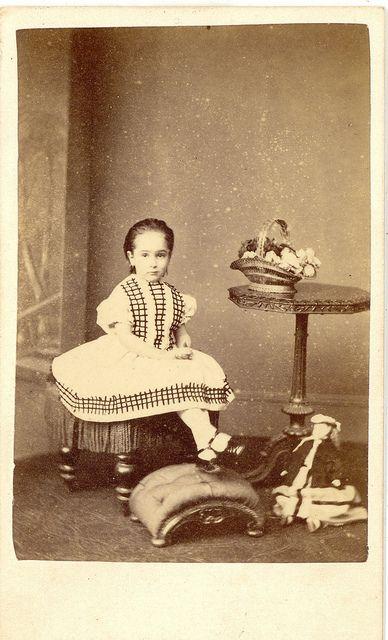Girl & Her Doll Posing Carte De Vista by Mirror Image Gallery, via Flickr