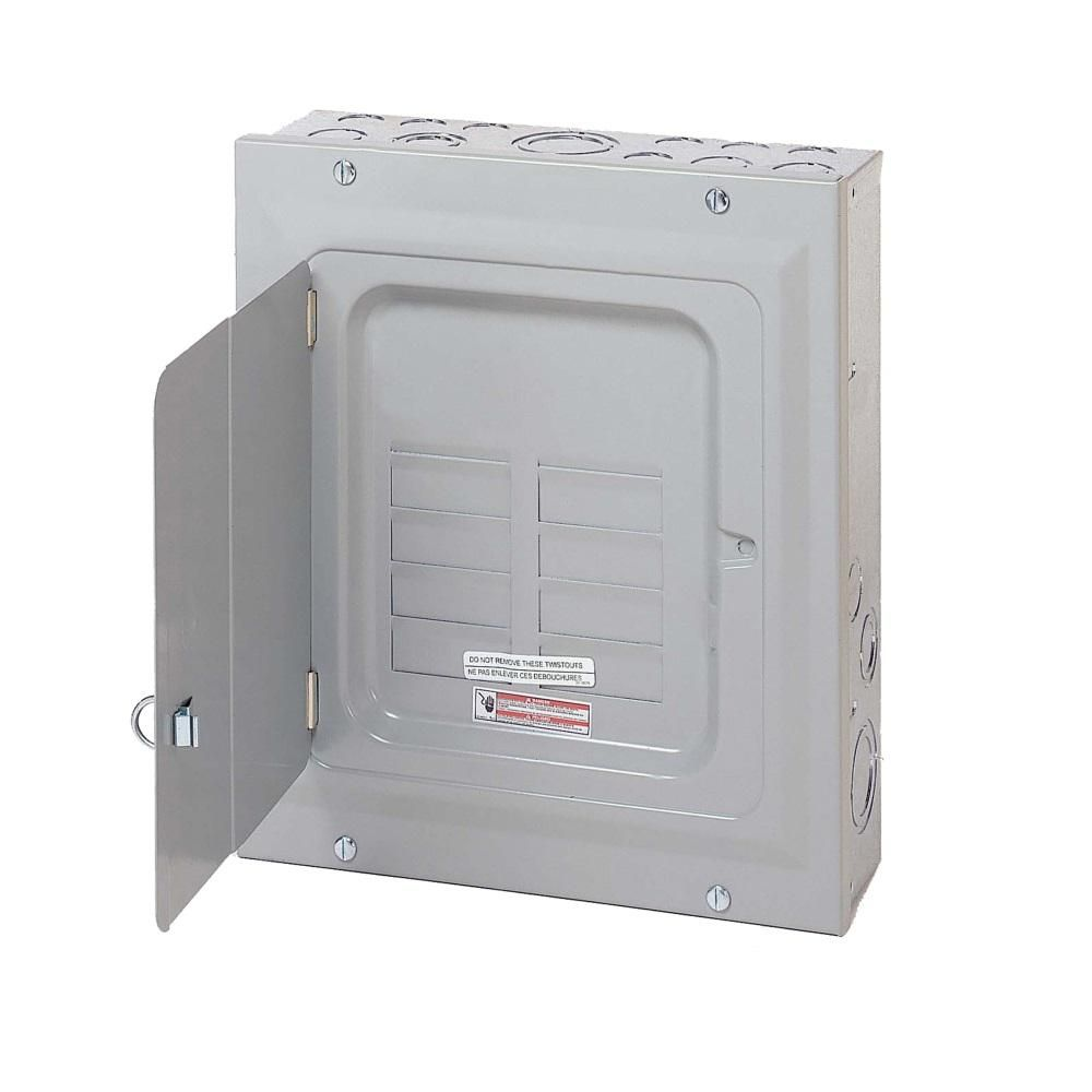 Eaton Br 125 Amp 6 Space 12 Circuit Indoor Main Lug Surface Cover With Ground Bar Br612l125sgp Eaton Circuit Breaker Box Flush Doors
