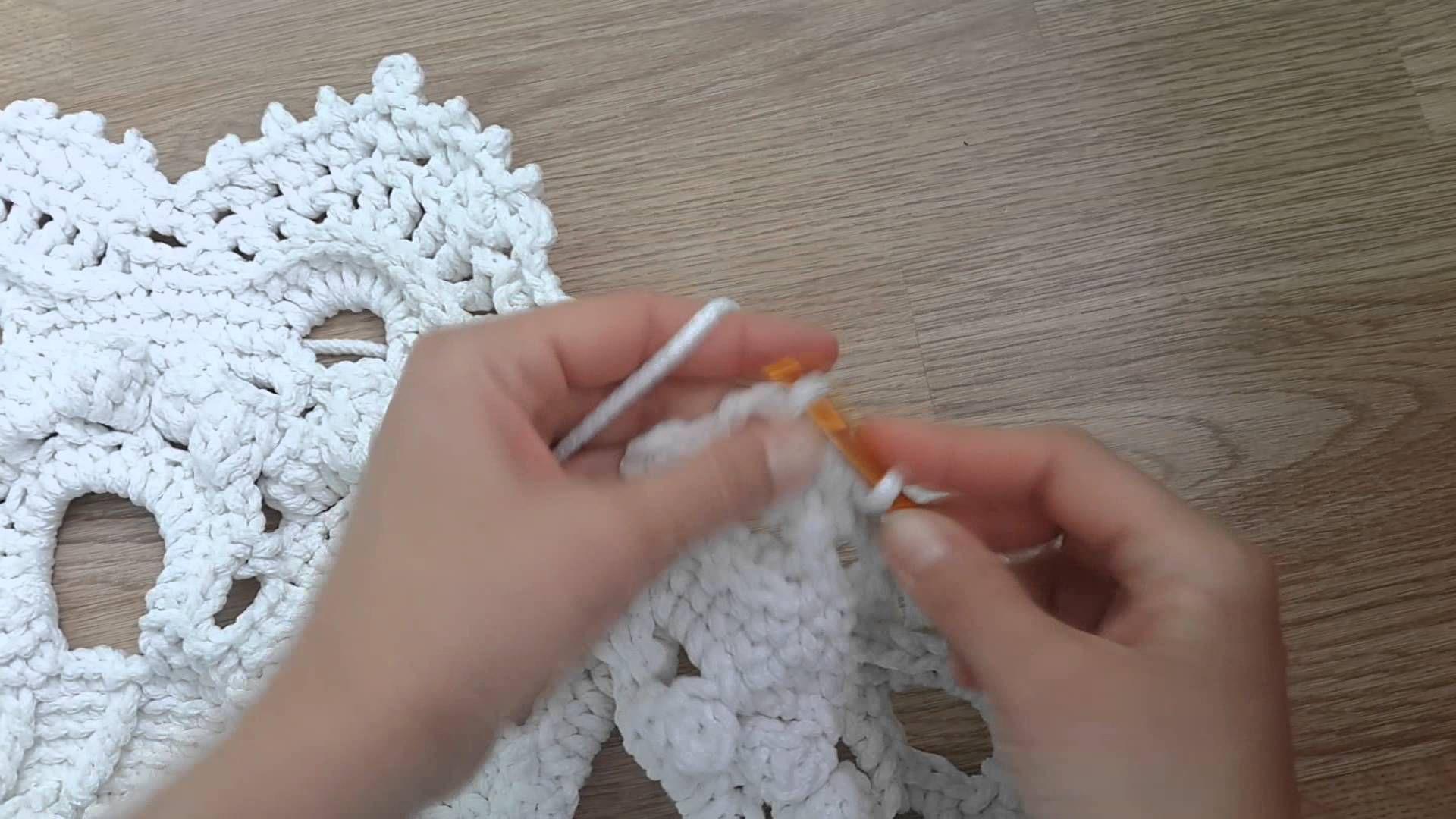 схема вязаный ковер из шнура
