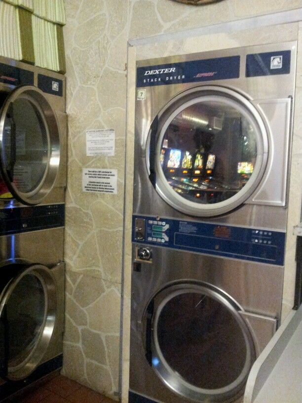 Fake Stack Dryers But Made With The Fronts Of Real Dexter Dryers Is Door To Rear Pinball Bar Sunshine Laundry Stacked Washer Dryer Stack Washer And Dryer