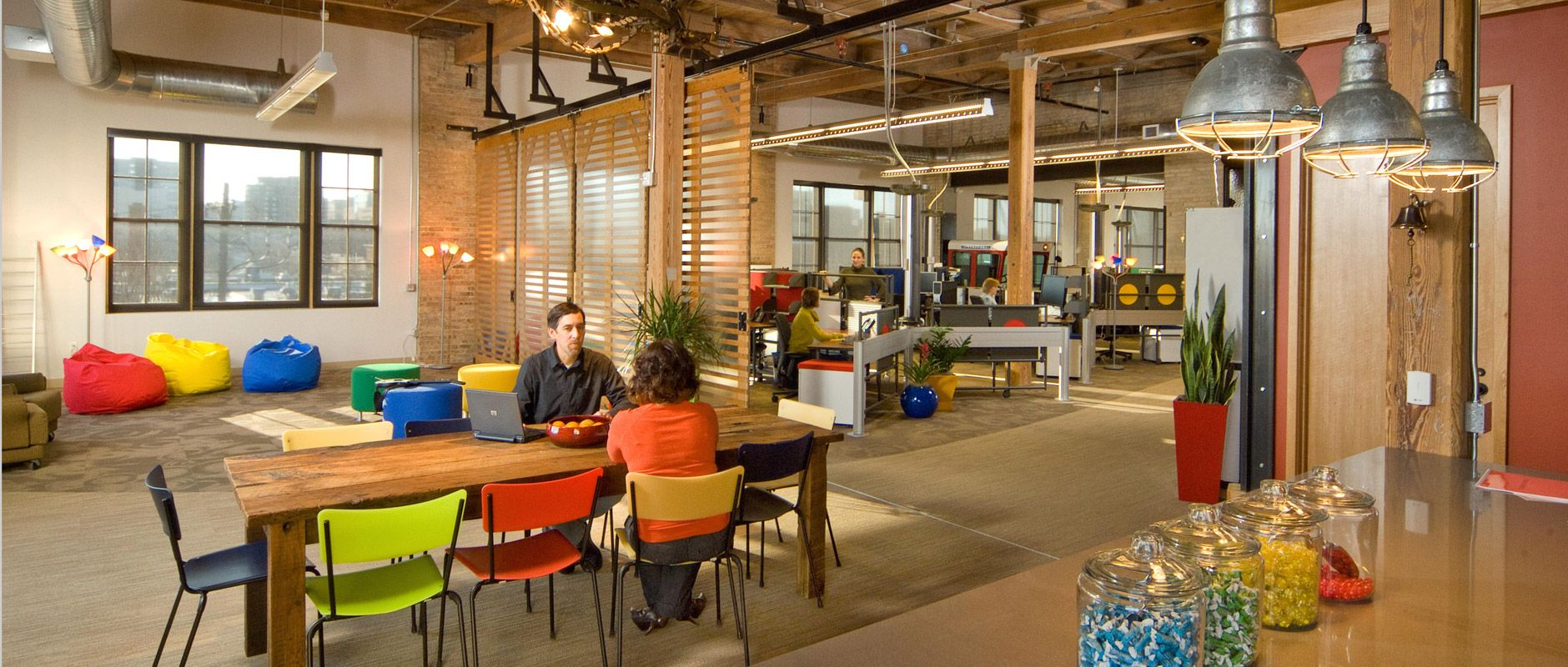 Google corporate kahler slater corporate dining pinterest learning spaces google - Google head office photos ...