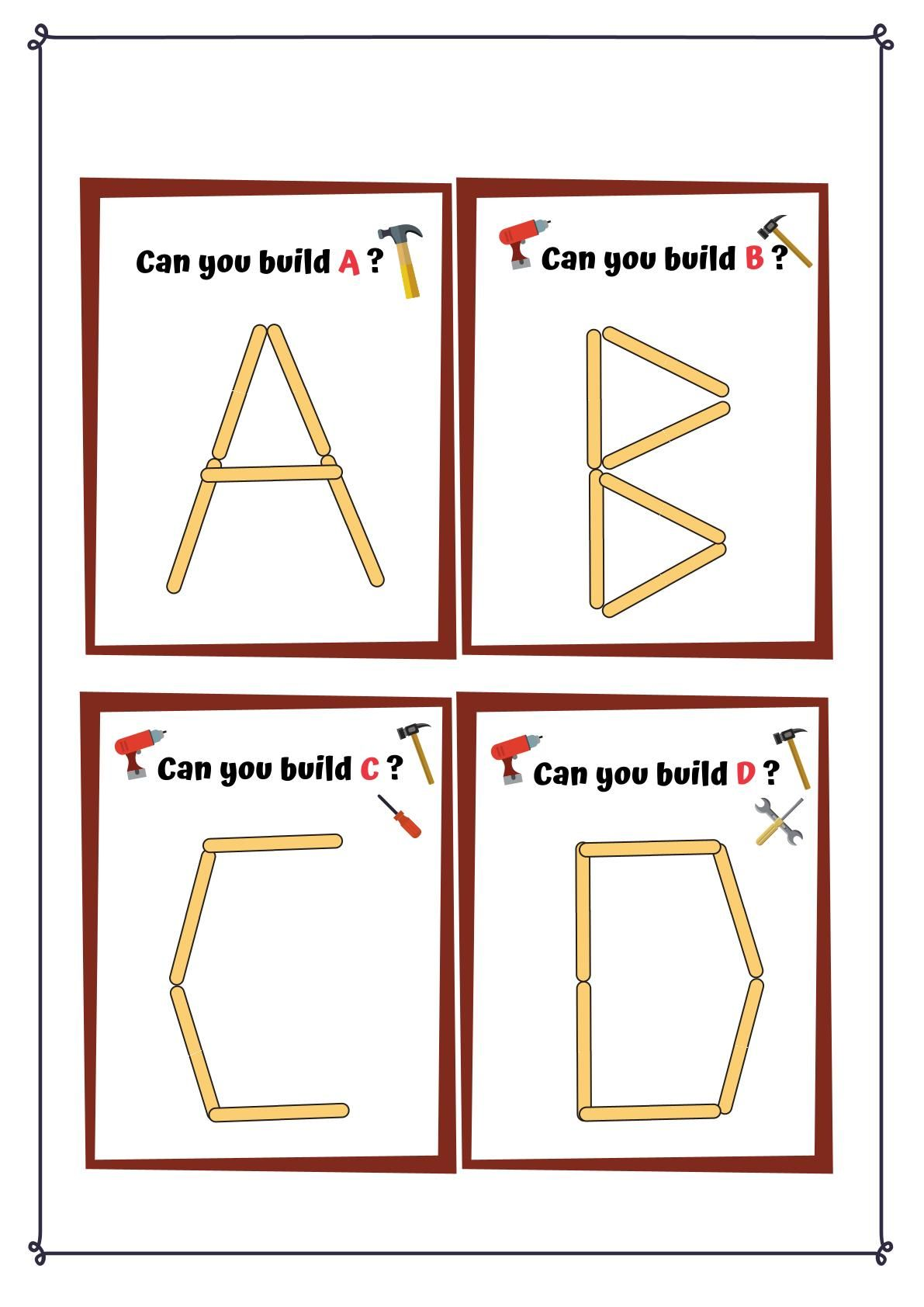 Popsicle Stick Alphabets In
