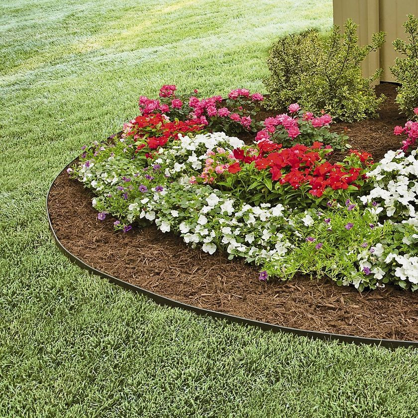 EasyFlex™ No Dig Garden Edging, 50' Metal Landscaping