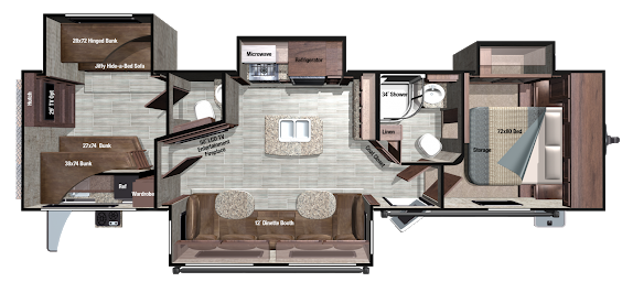 Image result for king bed bunkhouse travel trailer Rv