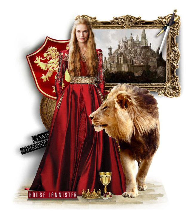 """""""~House Lannister: Hear Me Roar~"""" by andrea-villeda ❤ liked on Polyvore featuring art, GameOfThrones, got, medieval, lannister and cersei"""