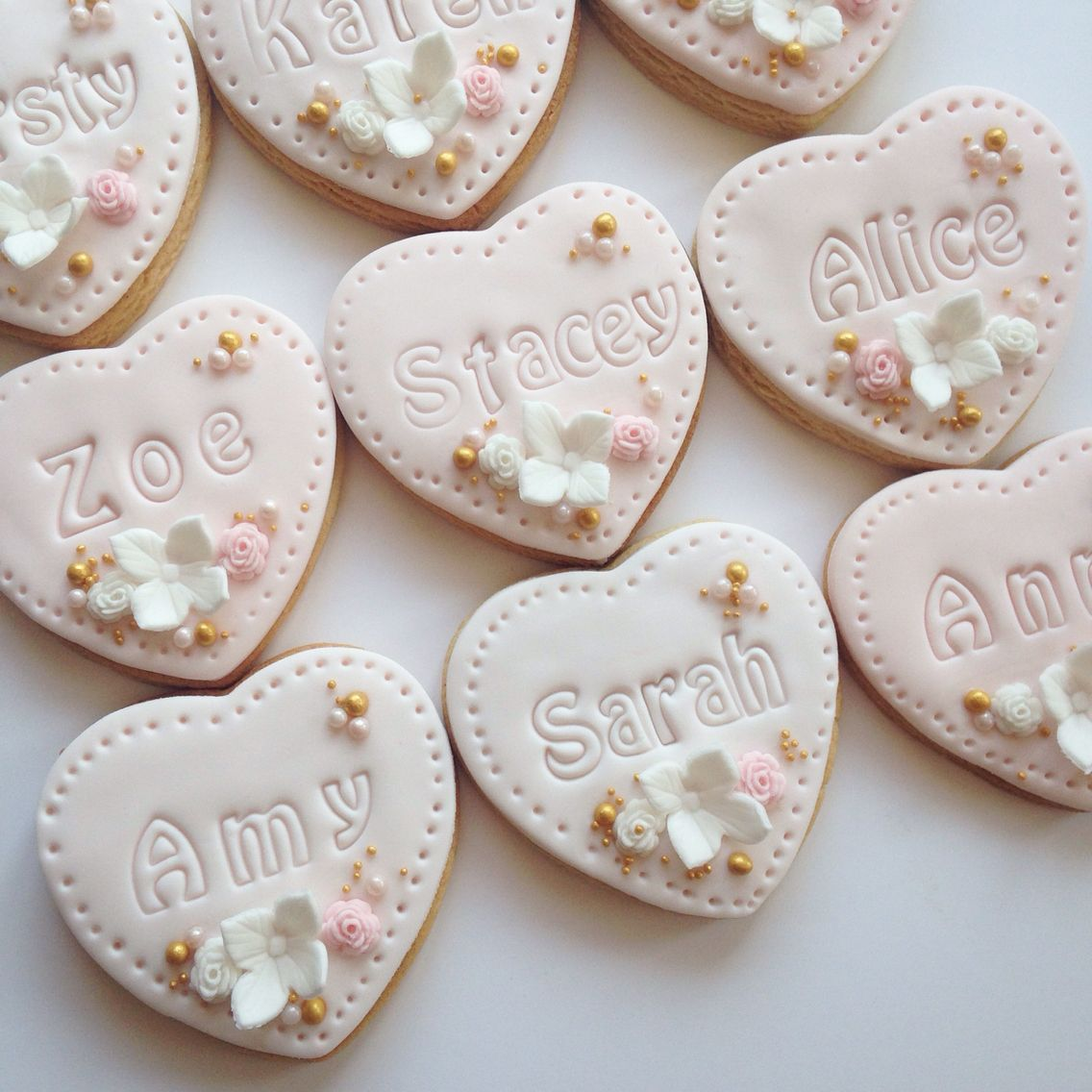 Blush & Ivory wedding cookie favours | Cookies | Pinterest | Cookie ...