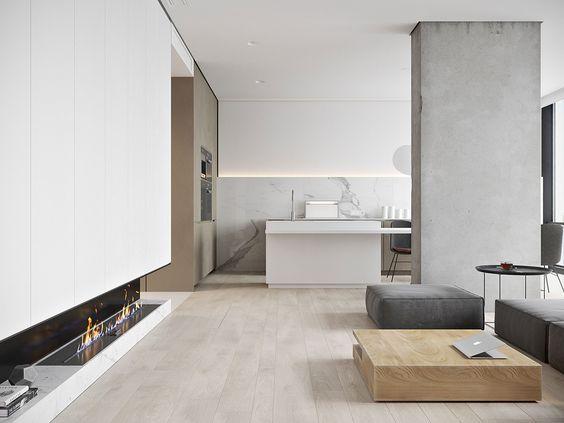 M3 Architects ha diseñado un apartamento de soltero para un joven - departamento de soltero moderno pequeo