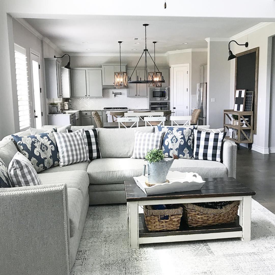 farmhouse living room furniture gray