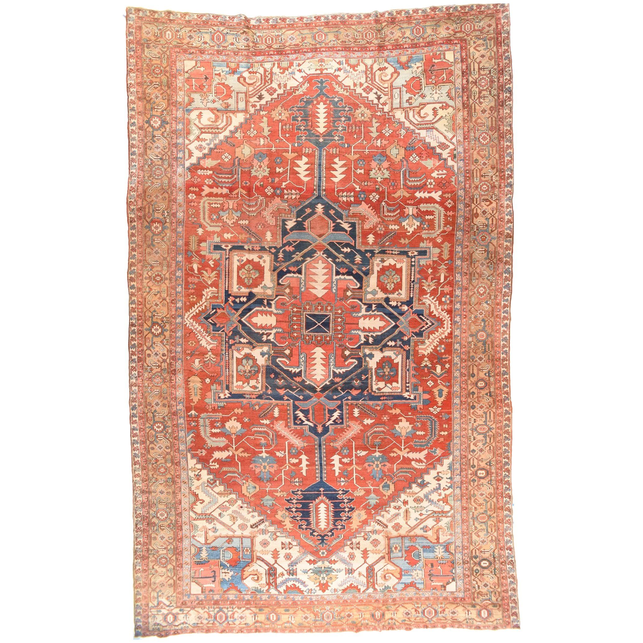 Antique Serapi Persian Rug Circa 1890 Persian Rug Rugs Rugs On Carpet