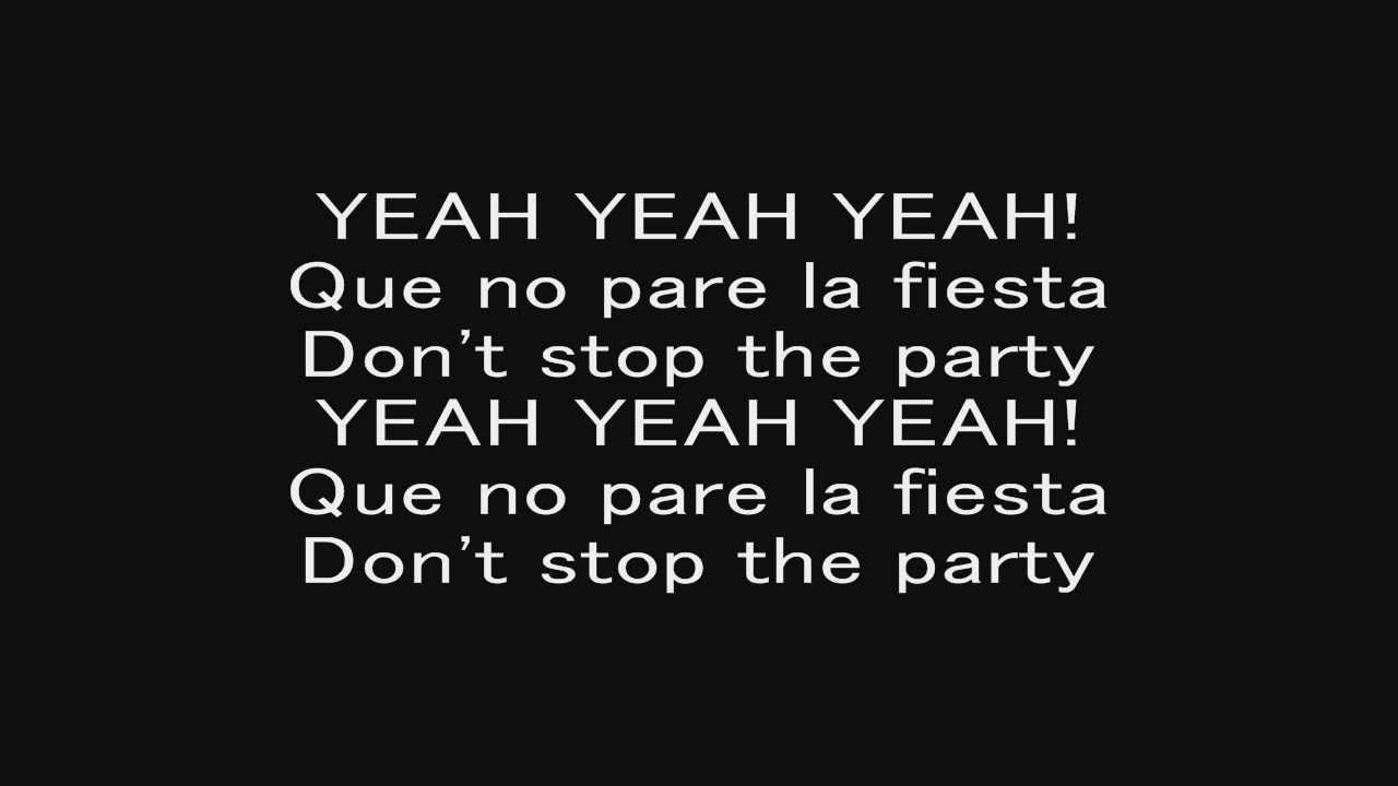 Pitbull Don T Stop The Party With Lyrics Music