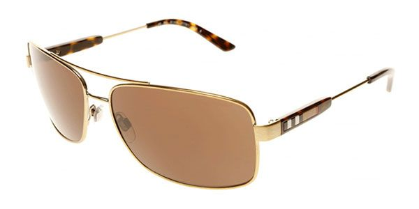 c6e2ece23f BURBERRY BE3074 116773 These Gold aviator square sunglasses are a great  classic men s style. They feature gold and tortoise frame with a bronze lens .