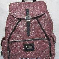 Victoria Secret Backpack | NWT VICTORIAS SECRET PINK BLING SPARKLE GLITTER PINK BACKPACK BOOK BAG