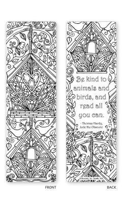 Spring Garden Coloring Bookmarks  Set Of   Bookmarks