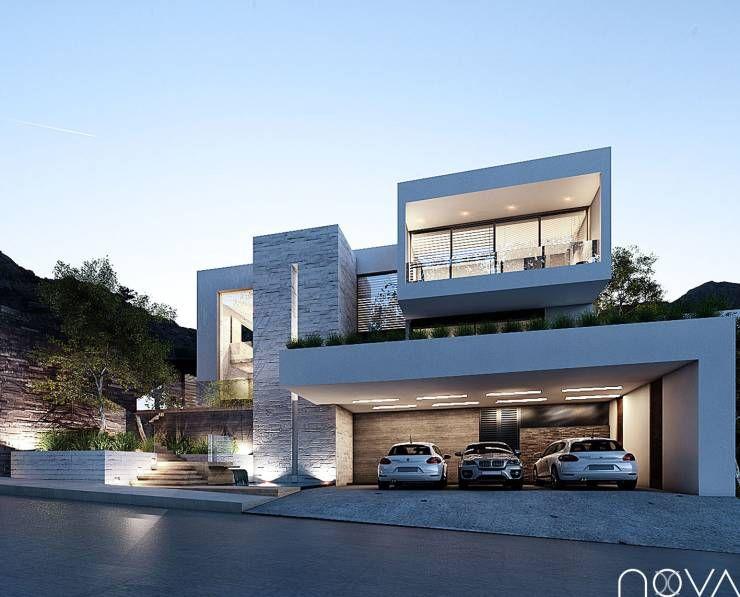 Casa gs de nova arquitectura villas bauhaus and for Estilos de fachadas de casas