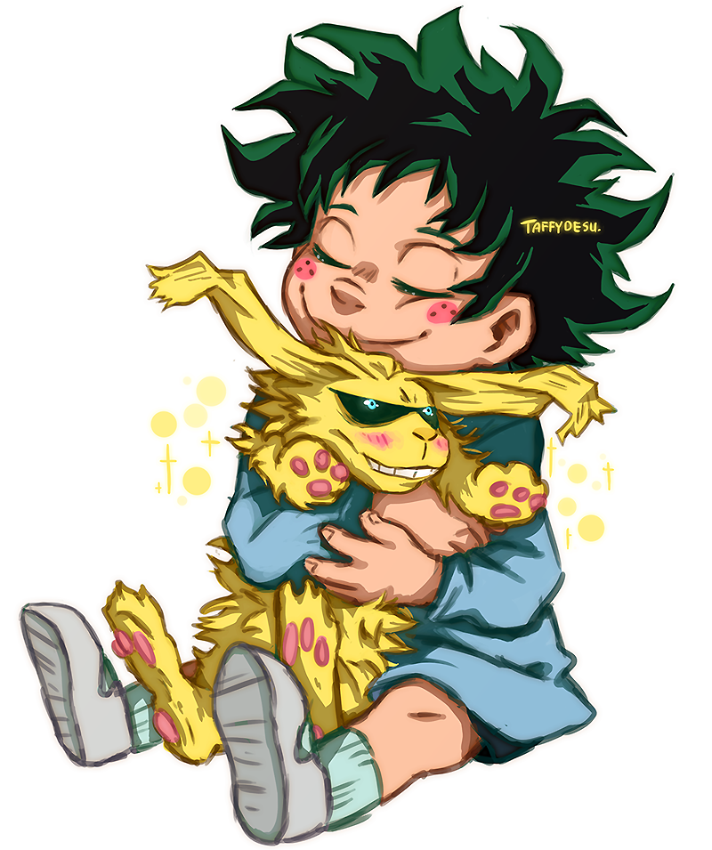 (Deku, can I have that All Might rabbit?) Happy Birthday All Might by TaffyDesu on DeviantArt