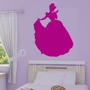 Sticker Princesse Disney Silhouette Cendrillon Chambre Bebe