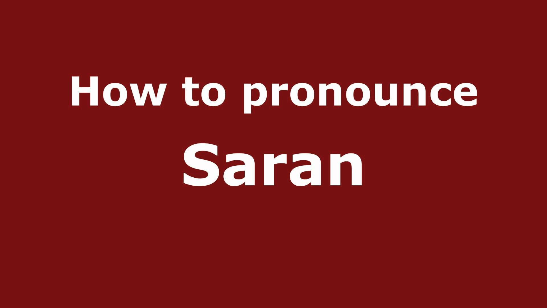 Mongolia Pronounce Names How To Pronounce Saran How To