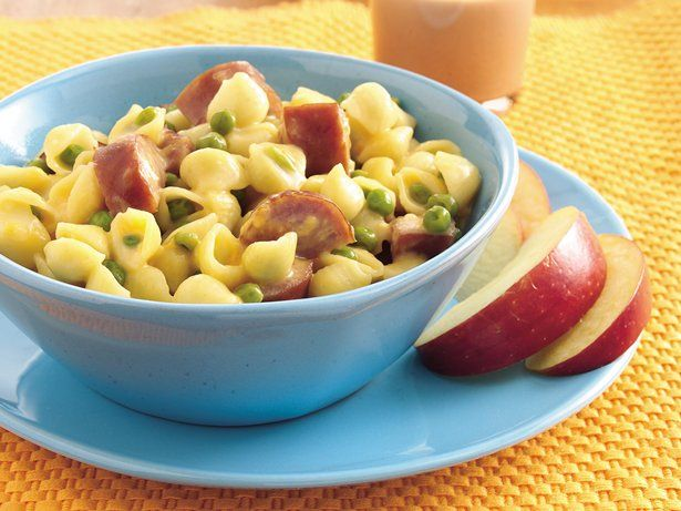 mac and cheese shells with sausage   recipe   recipes