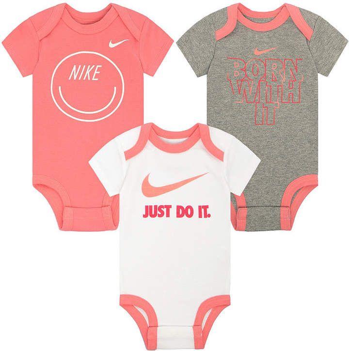 2af58943e4 Nike 3-pc. Bodysuit Set-Baby Girls #shopstyle #nike #babygirl | Bébé ...