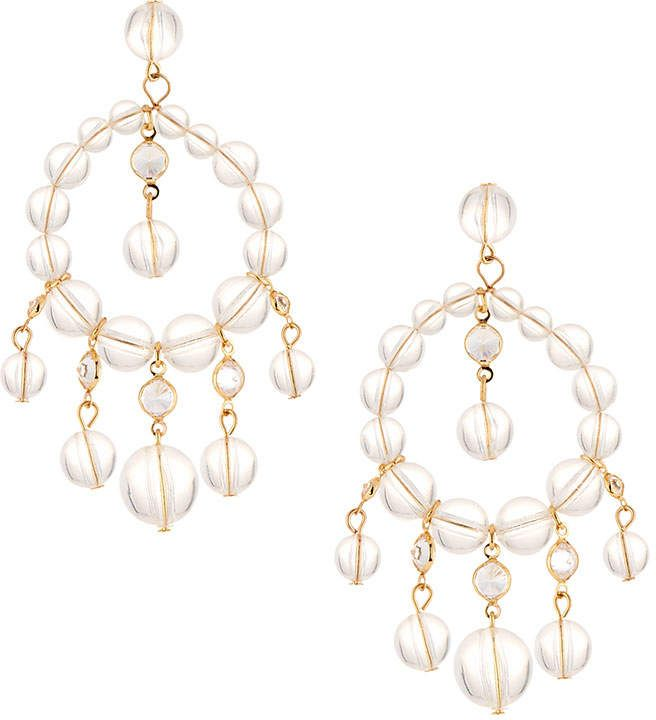 Fragments Lucite & Crystal Chandelier Earrings JNfEMZ
