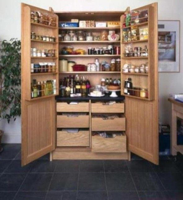 Shelves Might Be Too Small For The Appliances We Need To Store Awesome Kitchen Pantry Designs Design Inspiration